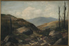 Drummond, Thomas Louden, 1850?-1926 :[New Zealand scene after bush burning]. 1896?