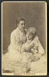 Hemus & Hanna (Auckland) fl 1879-1882 :Portrait of two women (one could be Miss L Isaacs of Tauranga)