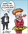 Nisbet, Alistair, 1958- :'Sorry for calling you a clown, Bob!' 10 February 2012