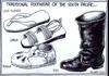 Traditional footwear of the South Pacific... Cook Islands, Samoa, Tonga, Fiji. 15 April 2009