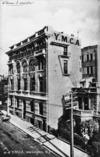 Front of postcard featuring YMCA (Young Men's Christian Association) building, Willis Street, Wellington