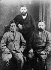 Rewi Manga Maniapoto with the Honourable John Sheehan and an unidentified man