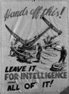 One of the security posters drawn by Nevile Lodge in World War II