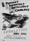 Security poster in a series drawn by Nevile Lodge in World War II