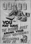 One of a series of security posters drawn by Nevile Lodge in World War II