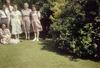 Group in a garden, Riccarton, Christchurch, New Zealand