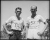 G M Cardwell, winner of mile race, with V P Boot, the runner up, at NZ Division Athletics Championships, Cairo - Photograph taken by George Kaye