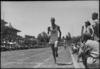 Finish of the 880 yards race at NZ Division Athletics Championships, Cairo, Egypt, World War II - Photograph taken by George Kaye
