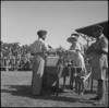 Lady Freyberg presenting trophies to C Masters at NZ Division Athletics Championships, Cairo, Egypt, World War II - Photograph taken by George Kaye