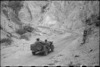 Portion of the Inferno Track showing steel netting to give grip on the road, Cassino area, Italy, World War II - Photograph taken by George Bull