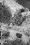 Jeep on portion of the Inferno Track, Cassino area, Italy, World War II - Photograph taken by George Bull