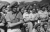 New Zealand troops listening to an address given by Peter Fraser, Cassino, Italy