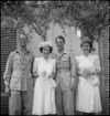 Miss Y E Hunter and Major L T Mark married at All Saints Church in Rome, Italy during World War II - Photograph taken by M D Elias