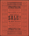 Te Aro House Drapery Co. Ltd.:Stocktaking is now close at hand, and in a week or two we will balance our books for the year. ... Grand clearance sale! at Te Aro House. Everything is reduced in every department. Evening Post Print - 9904 [ca 1904]