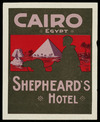 Shepheard's Hotel luggage label
