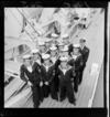 Sea Cadets from United Kingdom on board the 'Rangitoto', Pipitea Wharf, in New Zealand for Empire Sea Cadet camp on Motuihe Island