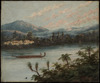 Backhouse, John Philemon, 1845-1908 :[Maori war canoe, Waikato River. ca 1880]