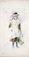 Hodgkins, Frances Mary, 1869-1947 :[Small girl] [18]91.