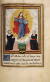 Man and woman at prayer before a vision of the risen Christ