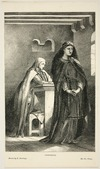 """Armitage, Edward, 1817-1896 :Conscience [Illustration from """"Churchman's family magazine"""" vol II (1863/64?). Engraved by] Thos Williams."""