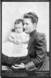 Zoe Carter with her eldest son, Matthew