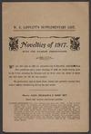 W E Lippiatt (Firm) :W E Lippiatt's supplementary list. Novelties of 1917, with the raisers' descriptions [Front page. 1917]