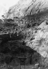 Men mining for sulphur on White Island