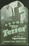 """Warner Bros: O-o-o-o-h """"The Terror"""" from the play by Edgar Wallace. A Warner Bros production [Front cover. 1929]."""