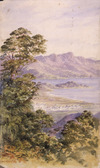[Barraud, Charles Decimus], 1822-1897 :[Settlement by shore, probably Queenstown. ca 1870]