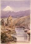 Williams, Edward Arthur 1824-1898 :[Timbermill at the edge of the Huatoki Stream, New Plymouth, 1864 or 1865]