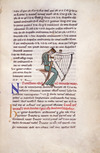 Woman tuning a medieval harp