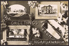[Postcard]. Greetings from Ngaruawahia. New Zealand post card (carte postale). Aldersley series. Real photograph [ca 1905-1914]