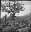 New Zealand Prime Minister Peter Fraser addressing World War 2 troops in Italy