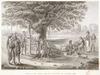 Pellion, Alphonse, 1796-1868 :Coupang; Ile Timor. Vue d'un chantier de construction. Grave par Duparc; dessine' par F. Garnier d'apres A. Pellion [1825]