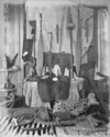 Maori artifacts at the residence of Sir George Grey, on Kawau Island
