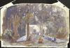 Richmond, James Crowe, 1822-1898 :Picnic near Ratanui. December 1851.