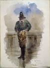 Hodgkins, William Mathew, 1833-1898 :A fisherman, Port Chalmers. [ca 1865]