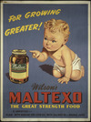 New Zealand Railways. Publicity Branch :For growing greater! Wilson's Maltexo, the great strength food. 3 varieties - Plain - with genuine cod liver oil - with halibut oil & orange juice. [ca 1935].