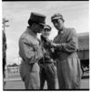Soldiers demonstrating a gun, Waiouru, also, outdoor domestic scenes, Taumarunui