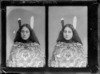 Katey Ramika, a young Maori girl, shown in two images on one plate