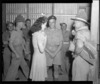 Grace Douglas talking to Trooper D M Urquhart and Coporal A T Dewer at Maadi Camp, Egypt, during World War 2