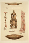 Angas, George French, 1822-1886 :Ornamental carvings in wood. George French Angas delt & lithog. Plate 46, 1847.