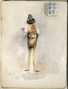 Hodgkins, Frances Mary :[Rear view of a man in doublet and hose. ca 1890]