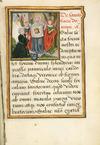 Patron kneels before St Veronica with the Sudarium