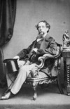 Portrait of the English novelist Charles John Huffam Dickens (1812-1870)