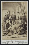 Connolly & Herrmann (Wellington) fl 1887-1889 :Group portrait of Form VI girls at Wellington Girls High School 1887