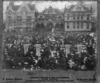 Aston, fl 1901 :Parliament Buildings, and crowd, on the occasion of the memorial service for Queen Victoria, 1901