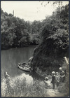 Teacher and pupils in a boat on the Mokau River