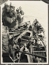 Boats used to bring wounded soldiers to the ship, Cyprus