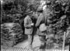 The New Zealand journalist W J Geddis at Divisional headquarters in France, World War I